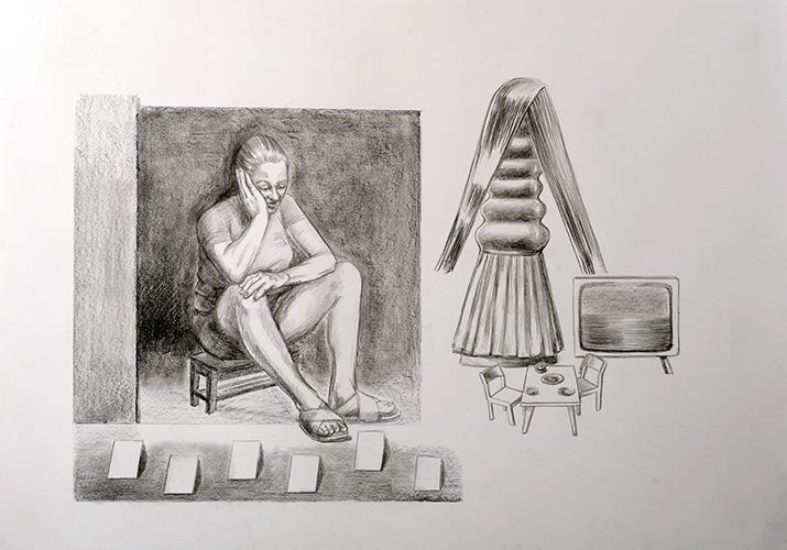 01-Elegie-2019-Bleistift-auf-Papier-87x117-cm