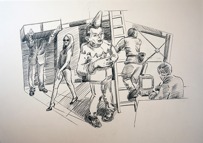 1-Die-Wiederherstellung-der-Unvernunft-2010-Bleistift-auf-Papier-59-4x84-cm