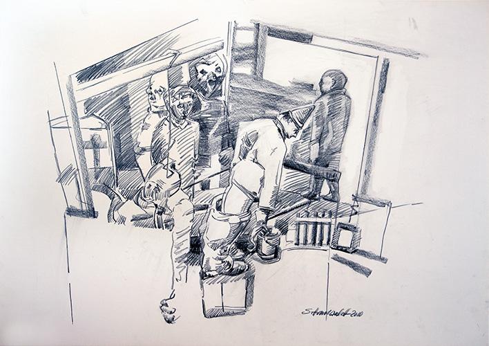2-Leos-Nacht-Zeichnung