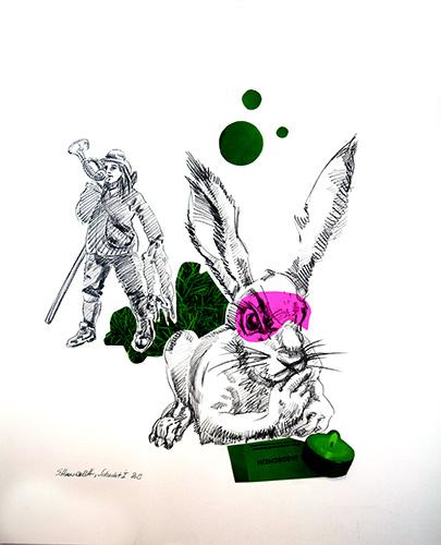 5-Jagdschein-2015-Bleistift-und-Collage-70x56-cm
