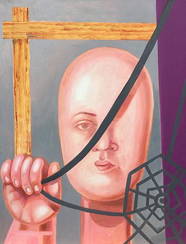 Zeit 2019 Öl und Acryl auf Leinwand, 50 x 40 cm
