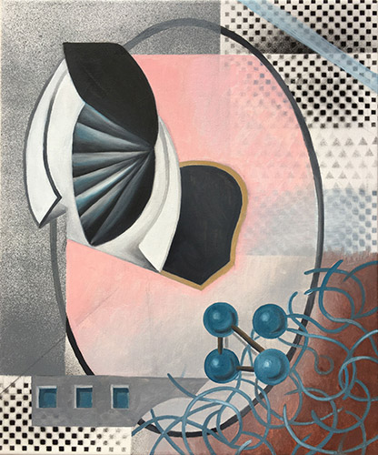 Diskurs 2020 Öl und Acryl auf Leinwand, 60 x 50 cm