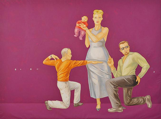 Hommage à Pala Montefeltro Öl und Acryl auf Leinwand, 191 x259 cm