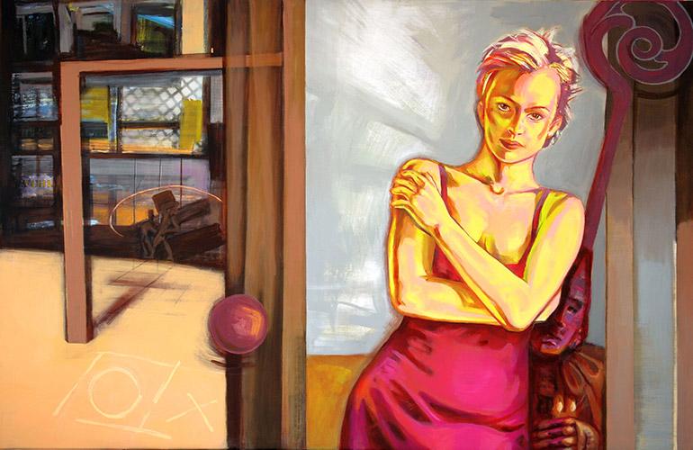 Medea 2009 Acryl und Öl auf Leinwand, 100 x 155 cm