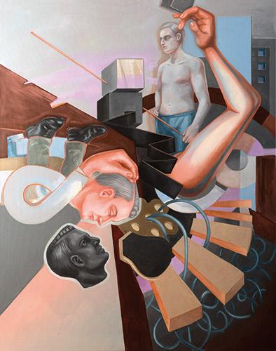 Wertschöpfung 2019 Öl und Acryl auf Leinwand, 140 x 110 cm
